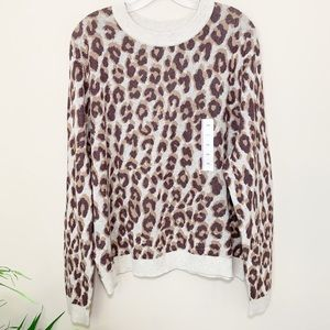 A New Day NWT Animal Print Crew Neck Sweater XXL